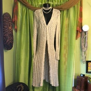FREE PEOPLE Open-Front Long Cardigan-Size Medium